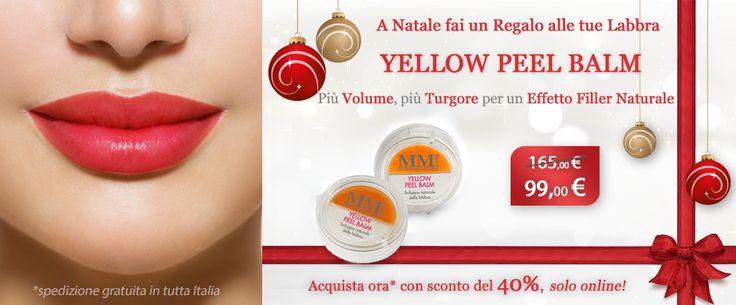 A #Natale fai un regalo alle tue #labbra con #MyCli!  Scopri #YellowPeelBalm! http://www.mycli.it/it/promozioni-online/199-yellow-peel-balm-.html