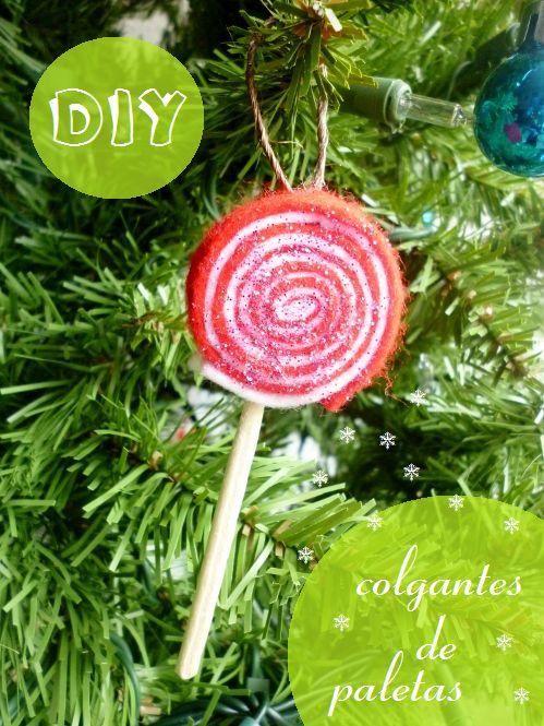 DIY paletas de fieltro #navidad #manualidades