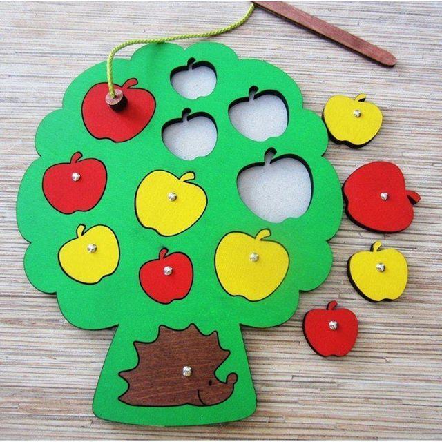 Деревянные #развивающие #игрушки Собираем урожай  #Развивающая #игра состоит из фанерной доски с вкладышами - #яблоками и деревянной удочки с магнитом на конце. Яблоки на дереве представлены в двух цветах (красные и желтые) и в пяти разных размерах. Производитель Россия  Цена 3000 тг  #littelbuddha#дети #смыслжизни #мойребенок #любовьмоя  #любимыйкарапуз #любовь #маленькийбудда #одежа #подгузники #памперсы #муниалматы #детскиймагазин #алматы #нексталматы #картерс #подгузникидляплаванья…
