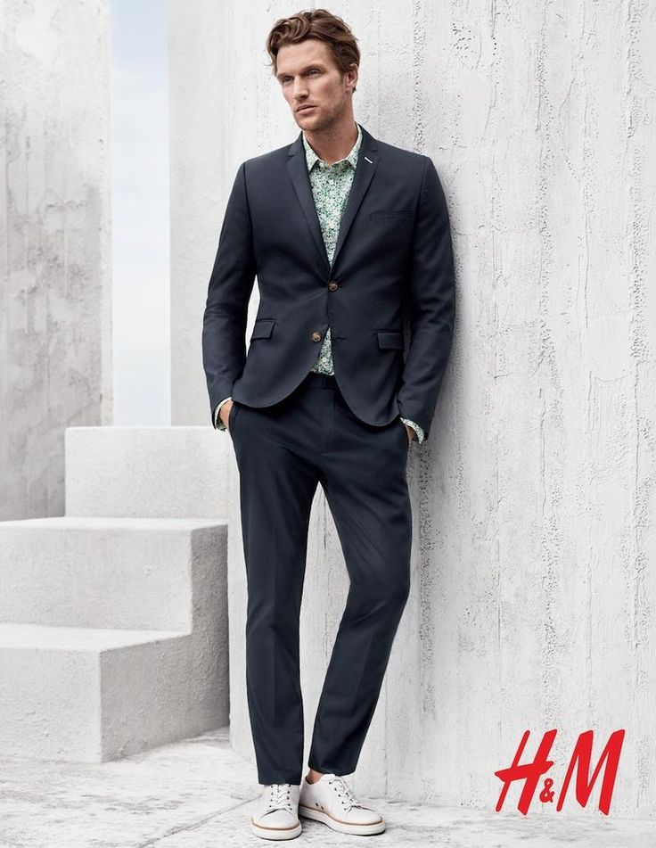 Men's casual suit | Shaun De Wet by Josh Olins for the H&M Men Spring Summer 2015 Campaign