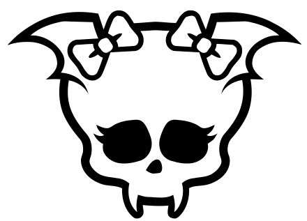 coloring pages monster high skull - photo#14