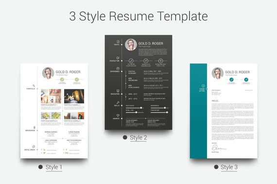 Professional Resume Template, CV Template for MS Word, Creative Resume, Modern Resume Design, Resume Instant Download Resume 4 Pack - SALE