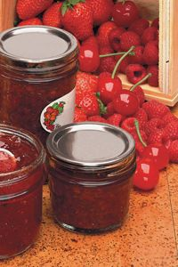 This week's #recipeoftheweek is a cherry and raspberry jam! Interested in making some of your own?  Here's the recipe: http://bit.ly/1pv70A6