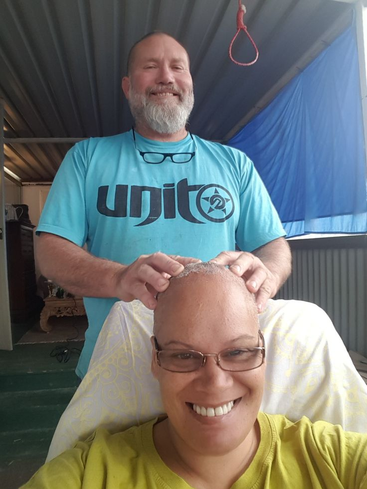 Head massage from my handsome hubby