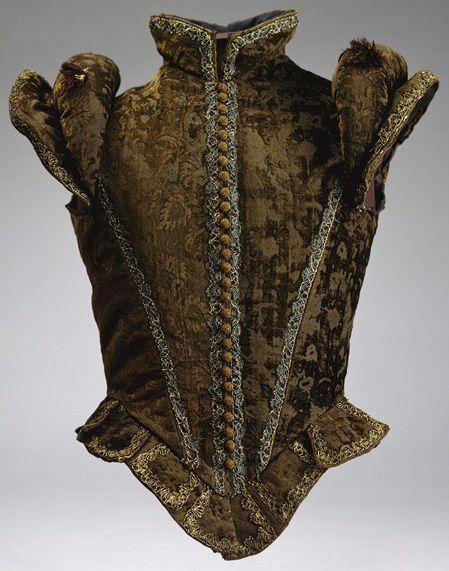 spanish; mens jerkin; 1580; silk and velvet