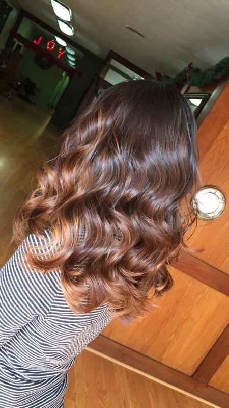 Warm caramel balayage ❤ #hair #balayage