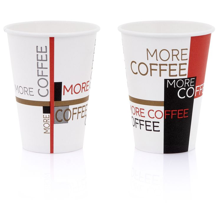 "14oz hot cup ""More Coffee"""