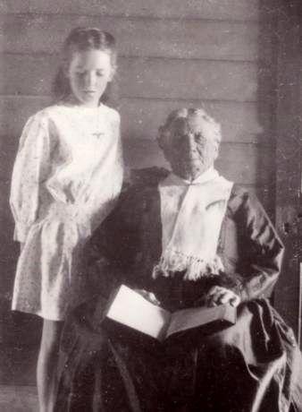 Elderly Charlotte Bayliss nee Bursill.