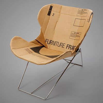 . of paper and things .: paper fix   minimalist cardboard chair