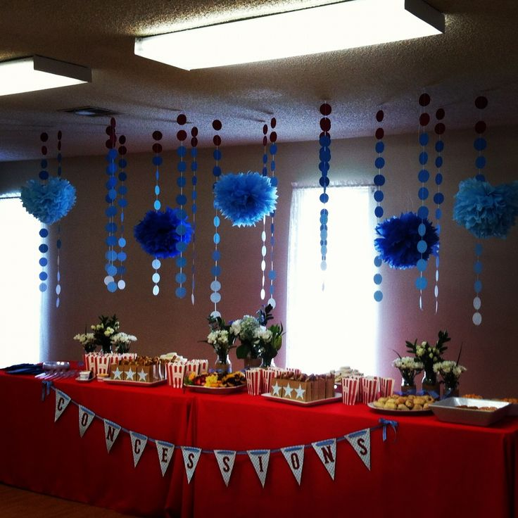 121 best images about baseball themed baby shower on pinterest for Baby shower hall decoration