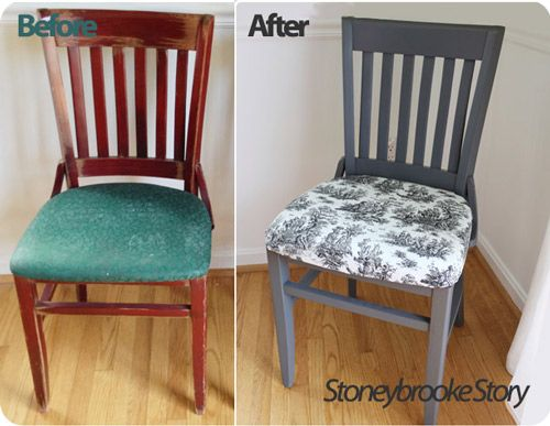 How To Reupholster Dining Room Chairs DIY Via Stoneybrooke Story