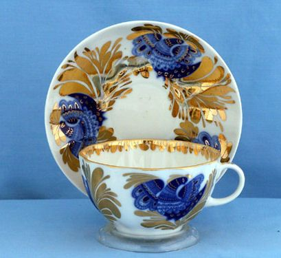 Lomonosov Russian Porcelain Teaset Teapot Tea Set Tea Pot Tea Cup Russian Teacups Lomonosov Cobalt Net