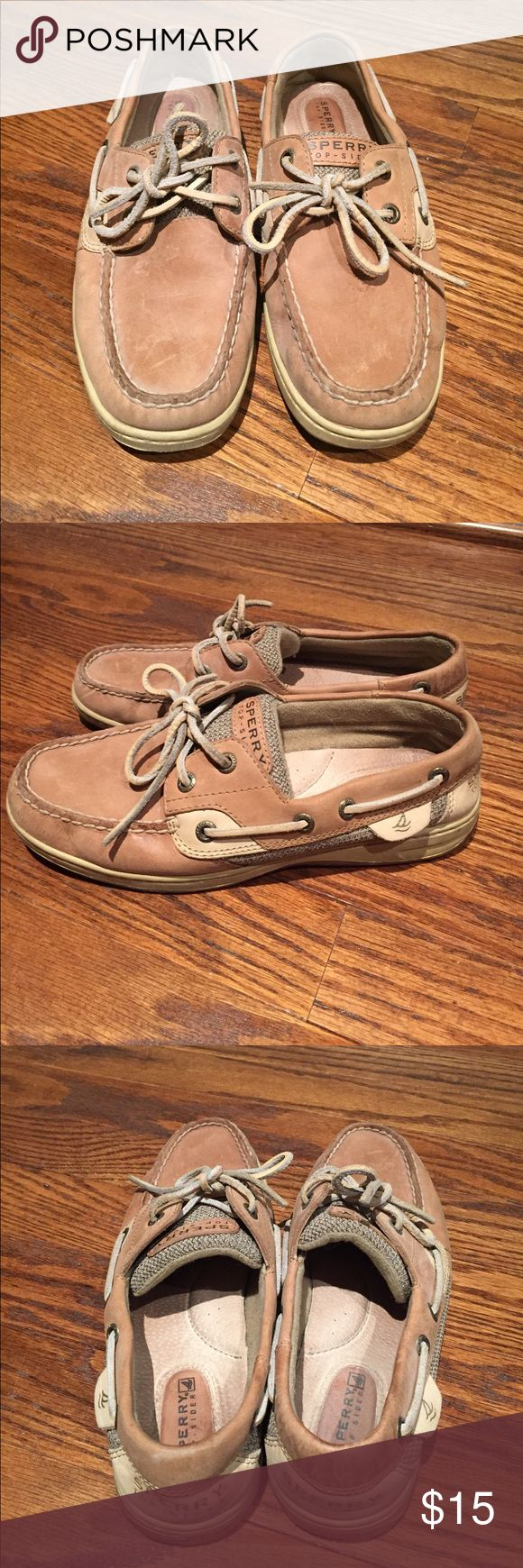 Sperry Topsider Boat Shoes, size 6 Perfectly broken in sperry topsiders, very gently worn in great condition. Sperry Top-Sider Shoes Sneakers