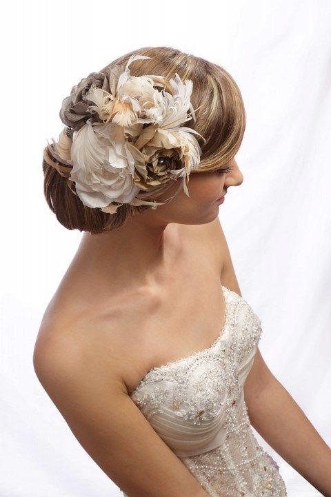 Krémovo - pieskové ruže do vlasov K3 - Svadobný salón Valery
