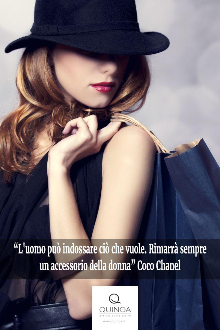 """""""L'uomo può indossare ciò che vuole. Rimarrà sempre un accessorio della donna"""" Coco Chanel #8marzo #festadelladonna #chanel"""