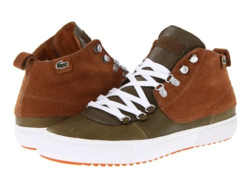 Lacoste Bruton Leather Suede Mens Shoe Sneaker