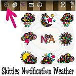 New Skittles notification weather app up on my blog now. If you like weather icons in your status bar than here ya go lol. I'll be posting color status bar, a uccw, Polaroid frame, and ONS tomorrow morning. Hope you like everything. #beweather #weather #s by Trulee.Sweet