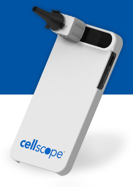 CellScope Oto - Attaches to your iPhone -Parents benefit from an easy-to-use, at-home tool that lets them capture high quality images of the ear canal and eardrum. CellScope allows parents to share these images as well as symptom information with their physician, providing peace of mind without having to leave the home. Wish I had one of these when I was a kid!
