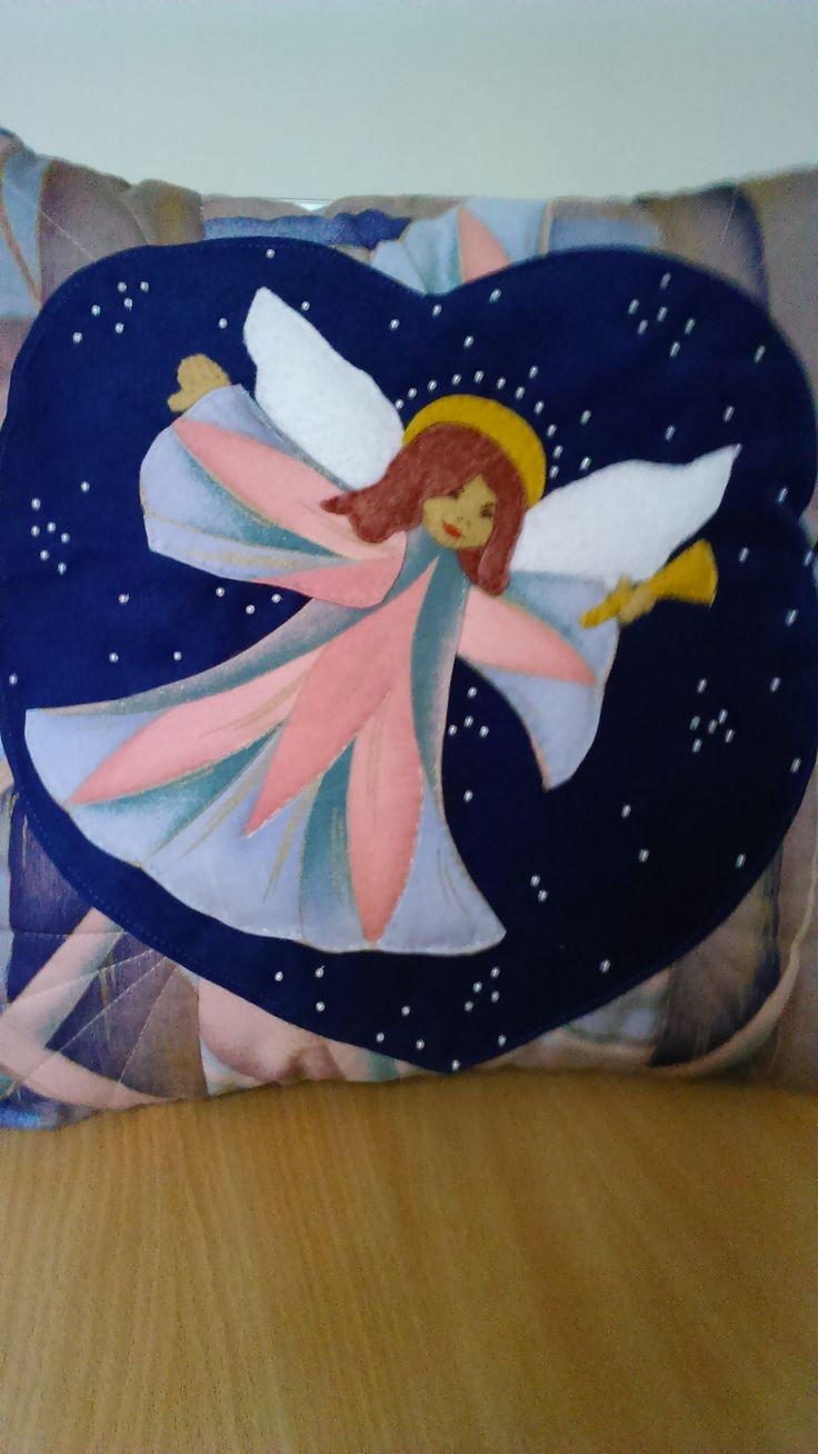Handmade angel pillow. By Alina Wodzińska