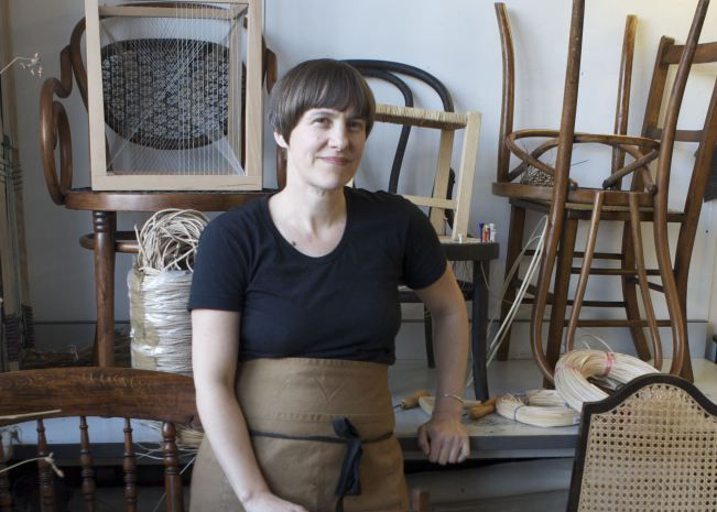Rachael South, craftswoman using traditional techniques to make contemporary furniture