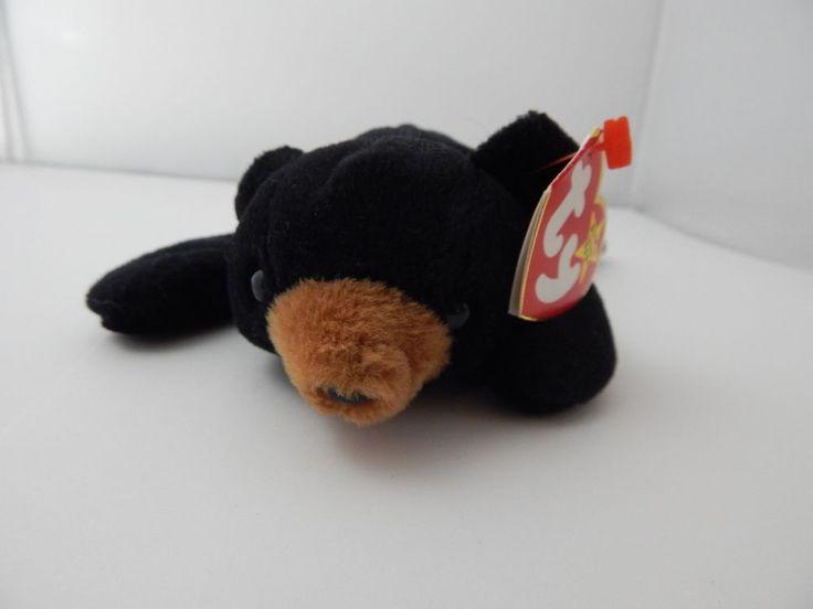 Ty Beanie Baby Blackie the Bear DOB July 15 1994 Tag errors #Ty