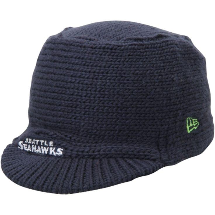 Seattle Seahawks New Era Women's Snow Sergeant Knit Visor Hat – College Navy