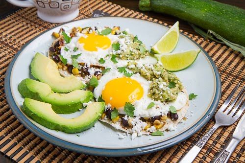 Caramelized Corn and Black Bean Huevos Rancheros with ...