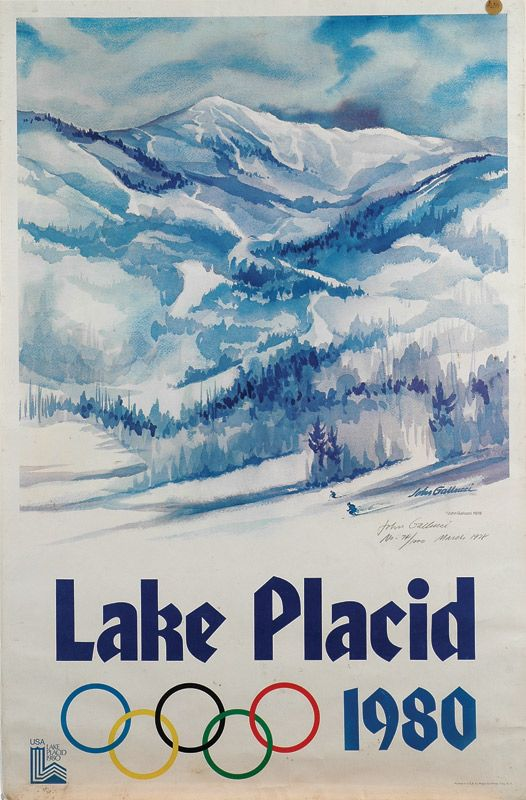 2006 winter olympics | Lot 1968. 1980 Winter Olympics Signed Limited Edition Poster ~ Hockey ...