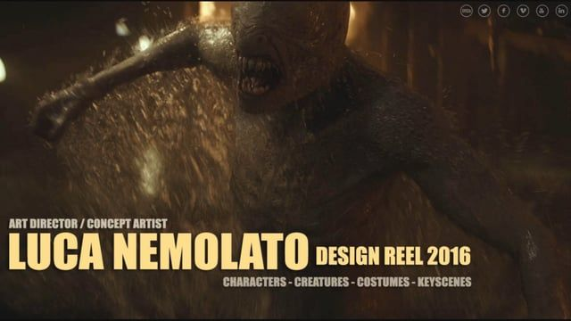 SERVICES: Art Direction, Concept Art, Character Design, Creature Design, Costume Design, Prop Design, CG Modeling & Texturing, Storyboard  AVAILABLE FOR FREELANCE PROJECTS AND TEACHING ASSIGNMENTS Already Authorized to work in USA and Europe.      Direct booking: luca.nemolato@gmail.com www.lucanemolato.com  Luca Nemolato is born in Naples, Italy. He is an Art Director/Concept Artist working for Films, Tv Shows ,Video Games and Commercials. He has professional experiences as Art Dir...