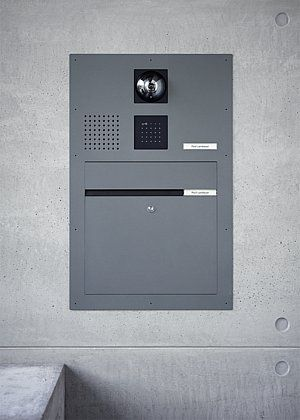 Siedle Classic door station with letter box
