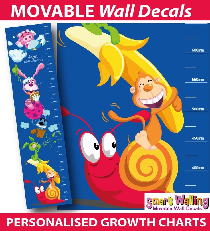 smartwalling, MOVABLE wall decals - Personalised Cute Animals Growth Chart - Totally Movable, $27.99 (http://www.wholesaleprinters.com.au/personalised-cute-animals-growth-chart-totally-movable)