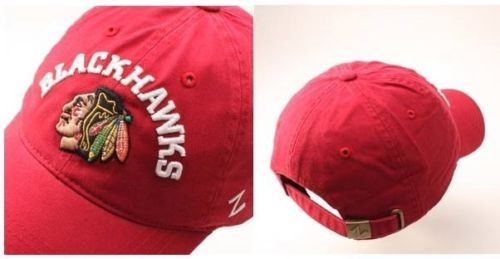 Zephyr-Chicago-Blackhawks-Centerpiece-Relaxed-Adjustable-Hat-Red-Size-OSFM-NWT