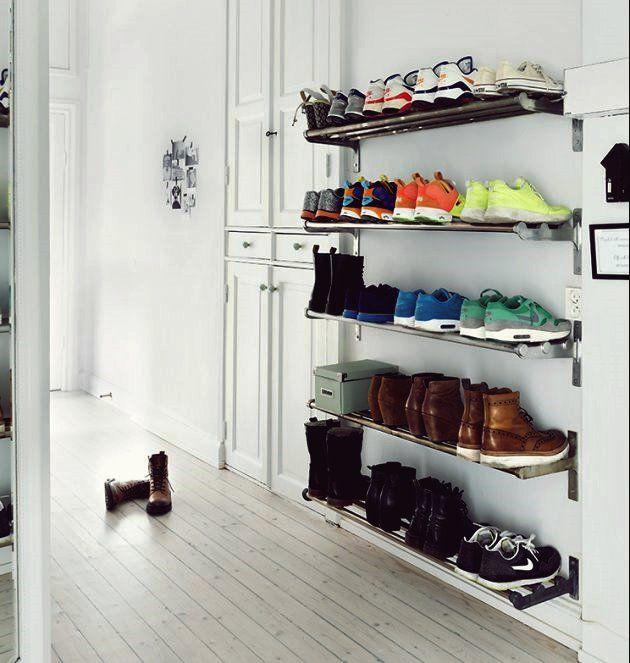 17 großartige DIY Ideen zur Aufbewahrung von Schuhen für
