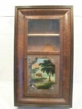 Dark Brown Wooden Hanging Display Cabinet Ex-Clock  for SALE, ONLY $160.00 on http://greenspotantiques.com