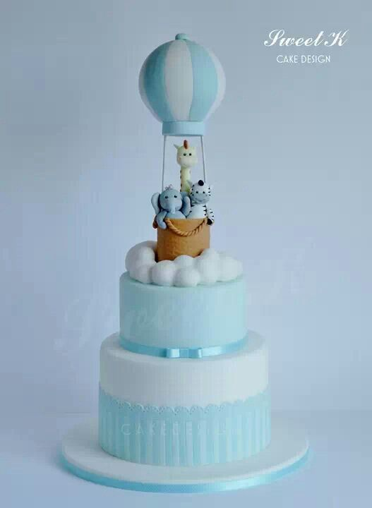 Baby shower or christening cake for a little boy