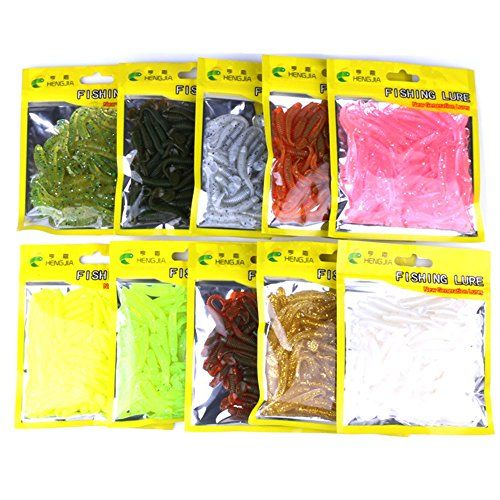 A-szcxtop T Tail Soft Worm Bait Shad Fishing Lures Swimbait
