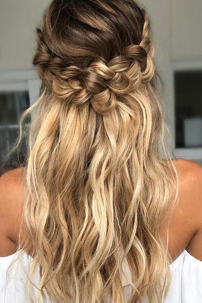 Peinados de trenza de boda #weddinghairstyles