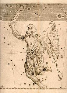 Orion was a giant huntsman whom Zeus placed among the stars as the constellation of Orion. Ancient sources tell several different stories about Orion; there are two major versions of his birth and several versions of his death. The most important recorded episodes are his birth somewhere in Boeotia, his visit to Chios where he met Merope and was blinded by her father.