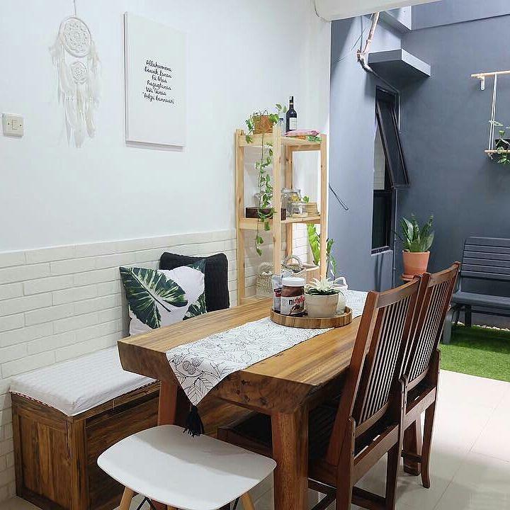 Desain Ruang Keluarga Menyatu Dengan Ruang Makan Minimalis Modern 2017