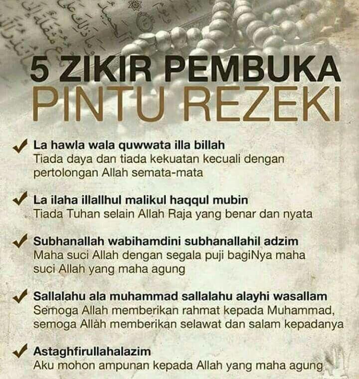 5 Zikir Pembuka Pintu Rezeki