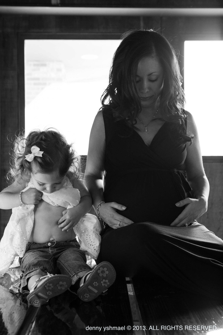 maternity photo with older sibling, this is my BFF and her daughter. Such a beautiful pic.