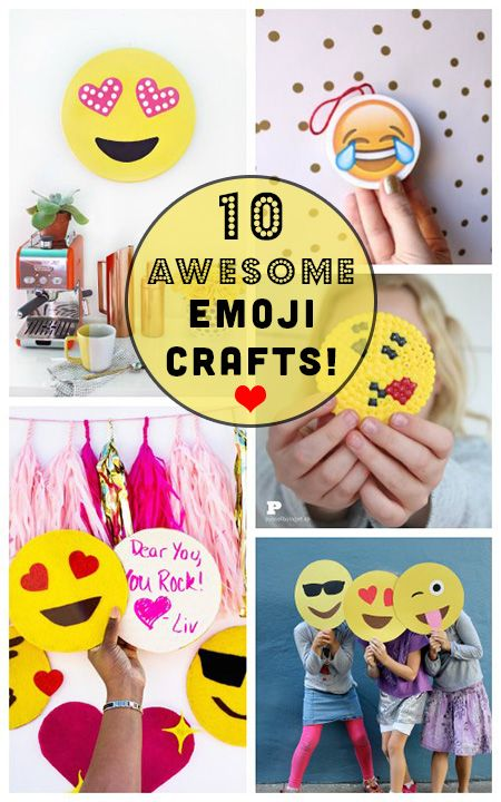 10 DIY Emoji Crafts, Because Why Should Your Phone Have all the Fun? emoji art for your life!