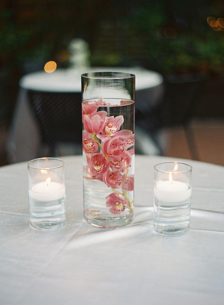 Classic wedding inspiration: elegant orchid centerpieces (Virgil Bunao)