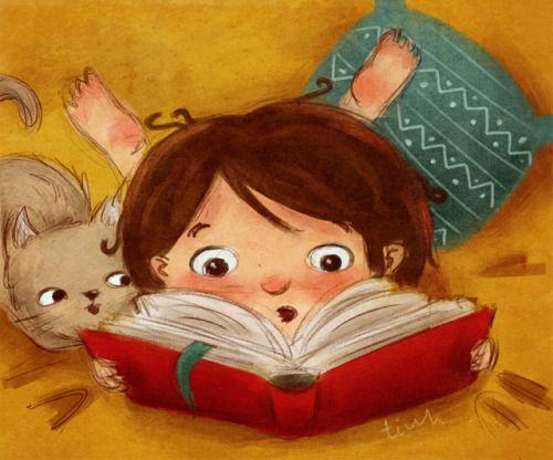 Stop al aburrimiento: vacaciones + lectura (ilustración de Tatiana Tiuh)