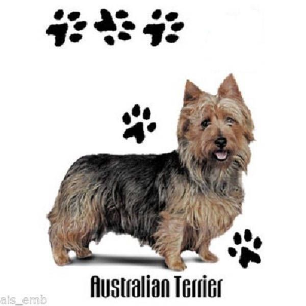 Australian Terrier T Shirt Funny Dog Shirt Quilt Fabric Etsy Funny Dog Shirts Dog Shirt Dog Paws