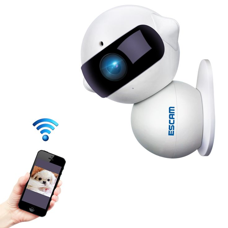 ESCAM QF200 960P Mini Robot 1.3MP WiFi AP IR IP Camera Night Vision 360 Degree Rotation Alarm Function Two Way Audio Support 64GB TF Card