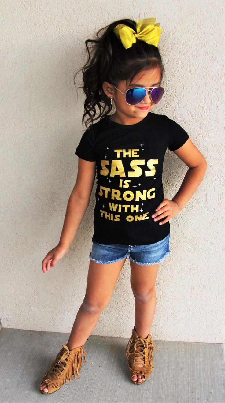 """""""The Sass is Strong with This One"""" Black T-Shirt   Sparkle in Pink"""