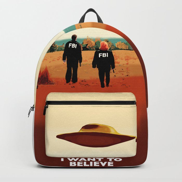🎒Backpack bag The X Files 👽 Fox Mulder and Dana Scully ❌I want to