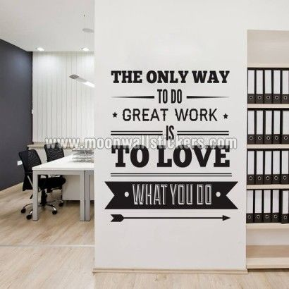 wall art for office. Office Decor Typography Inspirational Quote - Wall Decoration Art Success The Only Way To Do Great Work, Is Love What You For O