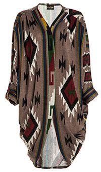 Tribal Cocoon Cardigan